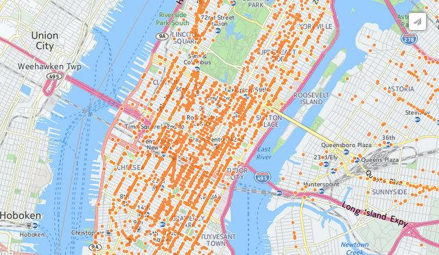 linknyc wifi coverage map ny nyc