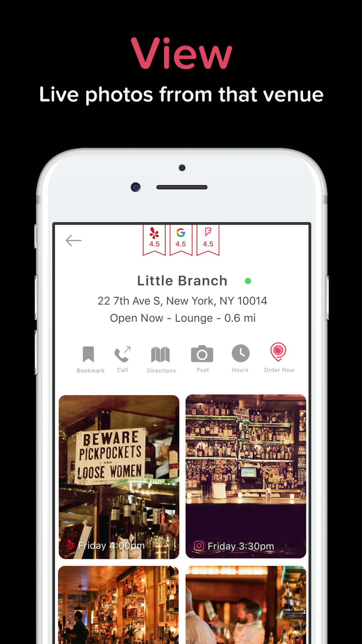 postcard digital social app nightlife heatmap