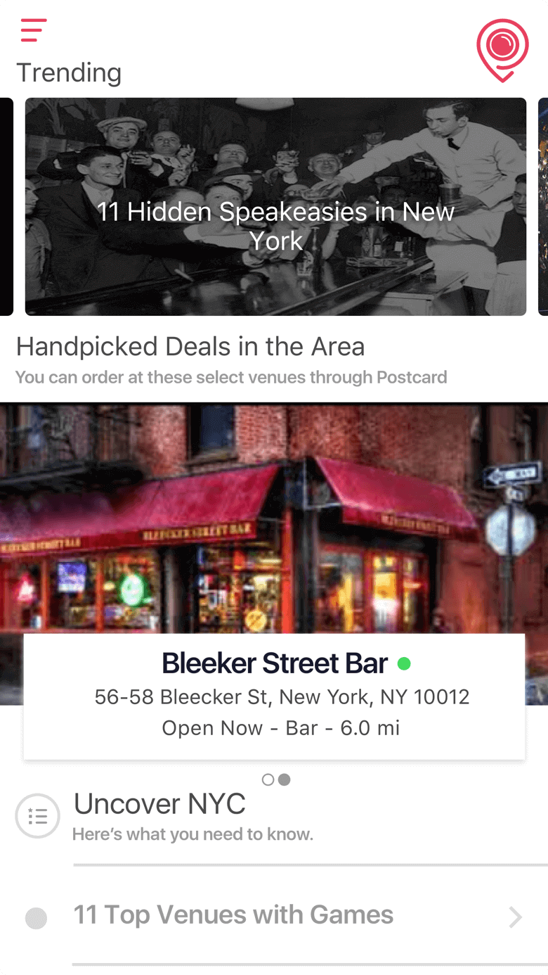 exclusive deals social app heatmap nyc