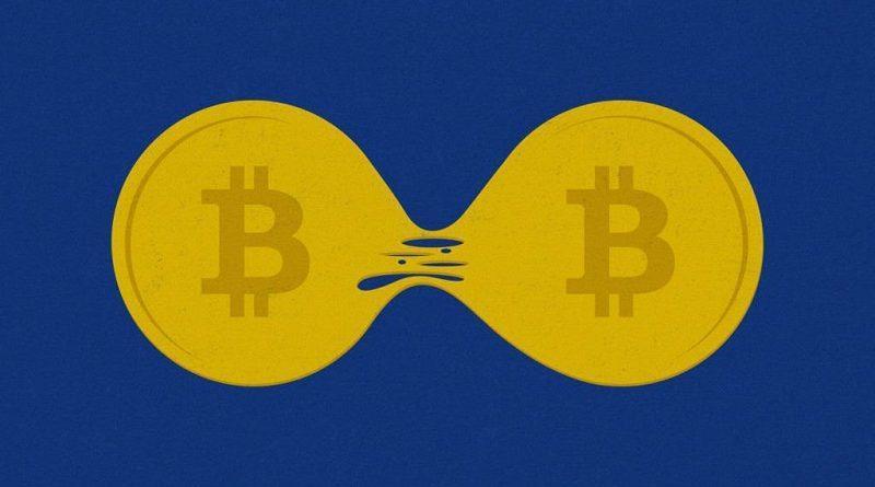 bitcoin cash price split